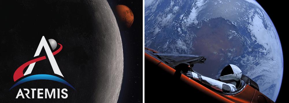 NASA Artemis SpaceX Starman